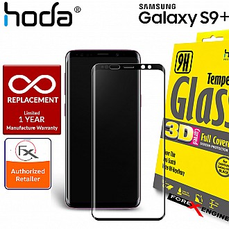 HODA 3D Full Coverage Tempered Glass Screen Protector for Samsung S9 Plus - Clear