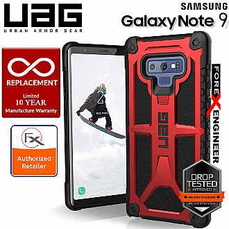 UAG Monarch for Samsung Galaxy Note 9 - Rugged Military Drop Tested Phone Case - Crimson Color