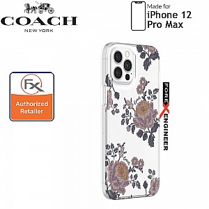 """Coach Protective Case for iPhone 12 Pro Max 5G 6.7"""" - Moody Floral (Barcode : 191058121691 )"""