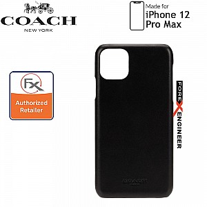 """Coach Leather Slim Wrap for iPhone 12 Pro Max 5G 6.7""""- Embossed Black (Barcode : 191058123657 )"""