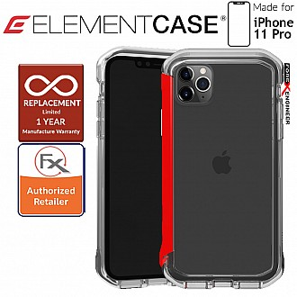 Element Case Rail for iPhone 11 Pro  (Clear/Solid Red)