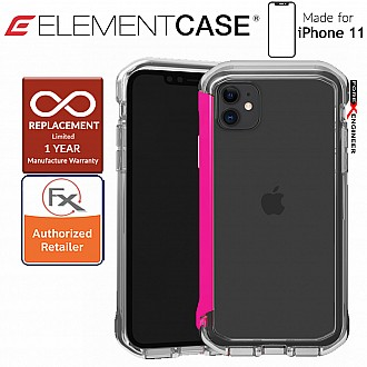 Element Case Rail for iPhone 11  (Clear/Flamingo Pink)