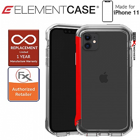 Element Case Rail for iPhone 11 (Clear/Solid Red)