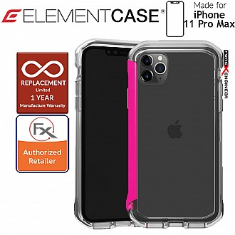 Element Case Rail for iPhone 11 Pro Max (Clear/Flamingo Pink)