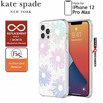 """Kate Spade Protective Hardshell for iPhone 12 Pro Max 5G 6.7"""" - Daisy Iridescent ( Barcode: 191058121028 )"""