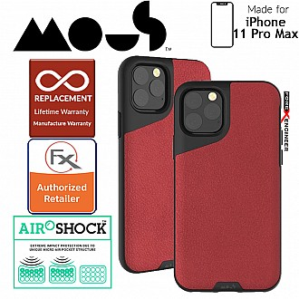 Mous Contour Colour Edition for iPhone 11 Pro Max (Red Leather)