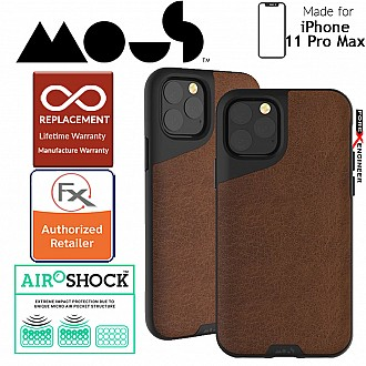 Mous Contour for iPhone 11 Pro Max (Brown Leather)