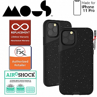 Mous Contour Colour for iPhone 11 Pro (Speckled Black Leather)