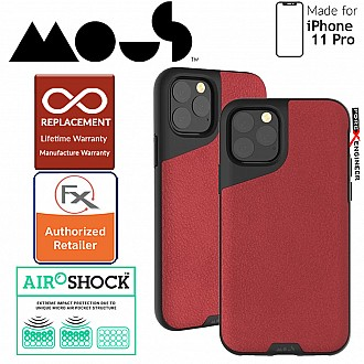 Mous Contour Colour for iPhone 11 Pro (Red Leather)