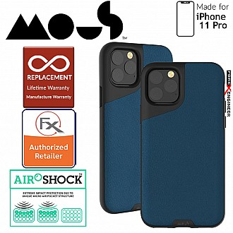 Mous Contour Colour for iPhone 11 Pro (Blue Leather)