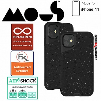 Mous Contour Colour for iPhone 11 (Speckled Black Leather)