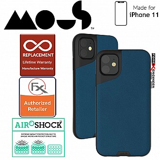 Mous Contour Colour Edition for iPhone 11 (Blue Leather)