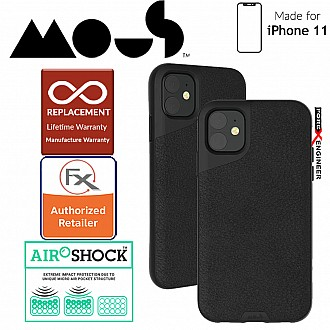 Mous Contour Colour Edition for iPhone 11 (Black Leather)