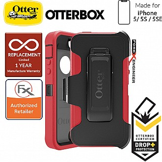 OtterBox Defender Series for iPhone 5/5s/SE - Raspberry