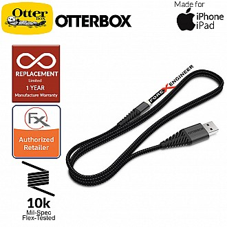 Otterbox Lightning Cable ( 1 Meter ) Ultra-strong Cable and Metal housing for iPhone and iPad ( Barcode: 660543413059 )