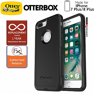 OtterBox Commuter for iPhone 8 Plus / 7 Plus - 2 Layers Lightweight Protection Case - Black