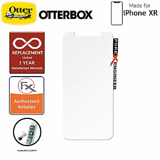 OtterBox Alpha Glass Screen Protector for iPhone XR  - Tempered Glass with Resists Scratches and Shattering - Clear