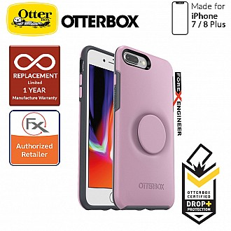 OTTER + POP Symmetry for iPhone 7 Plus / 8 Plus - Slim Protective Case with Pop Sockets - Mauveolous