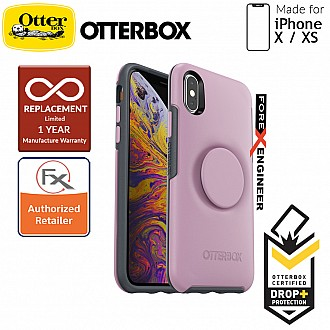 OTTER + POP Symmetry for iPhone X / Xs - Slim Protective Case with Pop Sockets -  Mauveolous