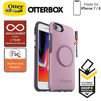 OTTER + POP Symmetry for iPhone 7 / 8 - Slim Protective Case with Pop Sockets - Mauveolous