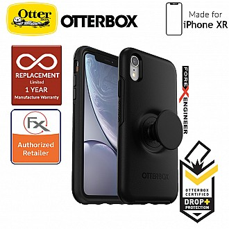 OTTER + POP Symmetry for iPhone XR - Slim Protective Case with PopSockets - Black