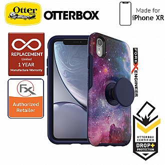 OTTER + POP Symmetry for iPhone XR - Slim Protective Case with PopSockets -  Blue Nebula