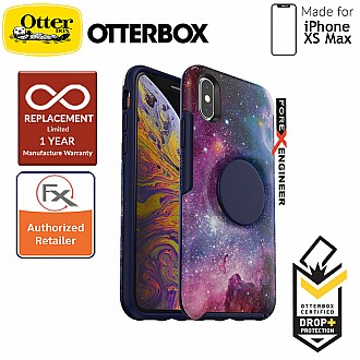 OTTER + POP Symmetry for iPhone Xs Max - Slim Protective Case with PopSockets -  Blue Nebula