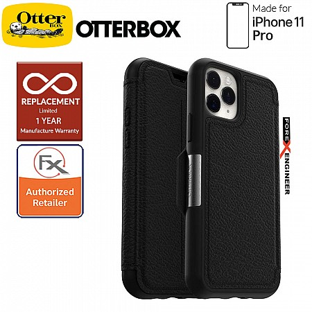 Otterbox Strada for iPhone 11 Pro - Leather Folio Case - Shadow Black Color