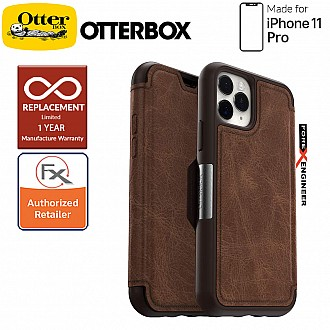 Otterbox Strada for iPhone 11 Pro - Leather Folio Case - Espresso Brown Color