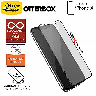 Otterbox Glass Amplify Edge 2 Edge for iPhone X - 2.5D Screen Protector - 7 Years Warranty