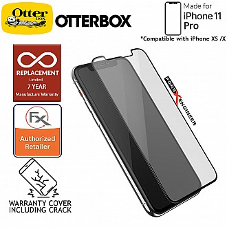 Otterbox Glass Amplify Edge 2 Edge for iPhone 11 Pro / iPhone X / iPhone XS - 2.5D Screen Protector - 7 Years Warranty