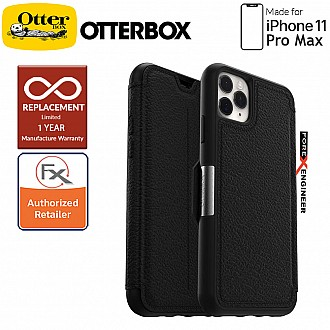 Otterbox Strada for iPhone 11 Pro Max - Leather Folio Case - Shadow Black Color