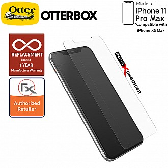 Otterbox Alpha Glass 2D Screen Protector for iPhone 11 Pro Max ( Compatible with iPhone Xs Max ) Tempered Glass with Resists Scratches and Shattering -  Clear Color ( Barcode : 846127194044 )