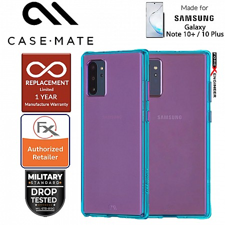 Case Mate Tough Neon for Samsung Galaxy Note 10+ / Note 10 Plus - Purple/Turquoise
