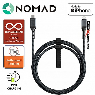 Nomad Ultra Rugged  Lightning Cable to USB C Cable - 1.5m - Black