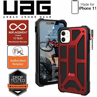 [READY-STOCK]  UAG Monarch for iPhone 11 - Rugged Military Drop Tested - Crimson