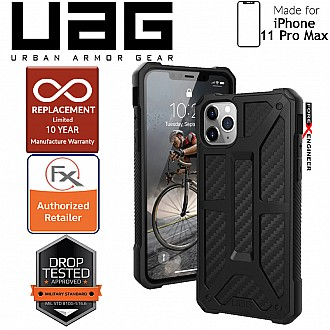 [READY-STOCK]  UAG Monarch for iPhone 11 Pro Max - Rugged Military Drop Tested - Carbon Fiber