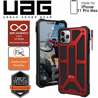 [READY-STOCK]  UAG Monarch for iPhone 11 Pro Max - Rugged Military Drop Tested - Crimson