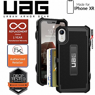 UAG Trooper for iPhone XR  -  military drop test standards & Holds up to 4 credit cards - Black