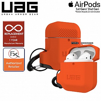 UAG AirPods Gen 1 & Gen 2 Silicone Case - Orange Color