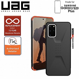 "UAG Civilian for Samsung Galaxy S20+ / S20 Plus 6.7"" - Black Color"