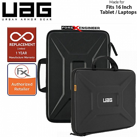 """UAG Large Sleeve with Handle for Laptop 15"""" - 16"""" / 15 - 16 inch - Black Color ( Barcode : 812451034158 )"""