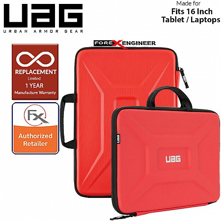 "UAG Large Sleeve with Handle for Laptop 15"" - 16"" / 15 - 16 inch - Magma Color ( Barcode : 812451034165 )"