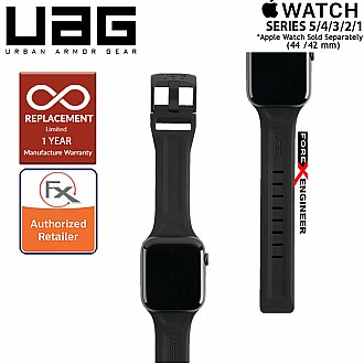 UAG Scout Strap for Apple Watch 44mm / 42mm Compatible for Series SE / 6 / 5 / 4 / 3 / 2 / 1 - Stainless steel hardware - Black Color ( Barcode : 812451034349 )