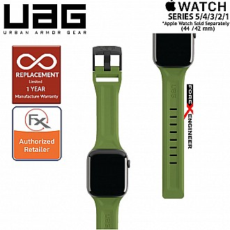 UAG Scout Strap for Apple Watch 44mm / 42mm Compatible for Series SE / 6 / 5 / 4 / 3 / 2 / 1 - Stainless steel hardware - Olive Color ( Barcode : 812451034356 )