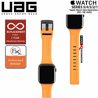 UAG Scout Strap for Apple Watch 44mm / 42mm Compatible for Series SE / 6 / 5 / 4 / 3 / 2 / 1 - Stainless steel hardware - Orange Color ( Barcode : 812451034363 )