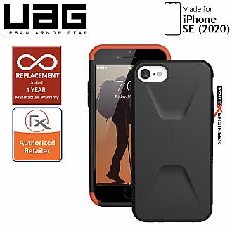 UAG Civilian for iPhone SE ( 2020 ) - Black Color  compatible with iPhone 8 / 7 ( Barcode: 812451034585 )