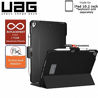 "UAG Scout Series for 10.2 inch / 10.2"" 7TH GEN 2019 - Compatible with Smart Keyboard Folio - Black Color ( Barcode: 812451035254 )"