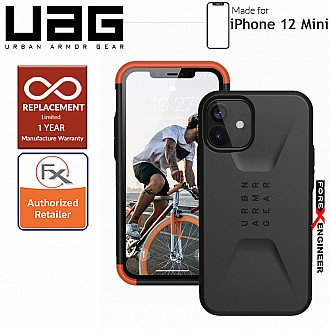 "UAG Civilian for iPhone 12 Mini 5G 5.4"" - Black ( Barcode : 812451035971 )"