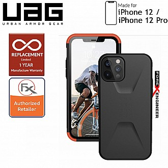 "UAG Civilian for iPhone  12  / 12 Pro  5G 6.1"" - Black ( Barcode : 812451036077 )"